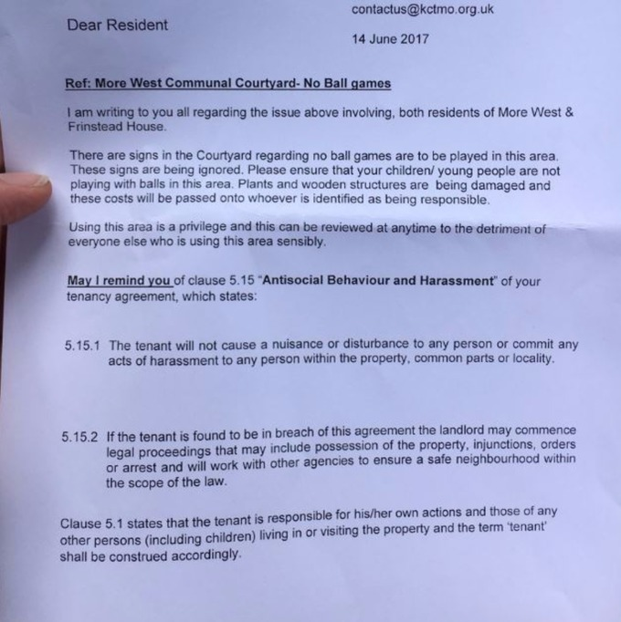 Devastated residents delivered warning letters day after Grenfell – Tenant Warning Letter