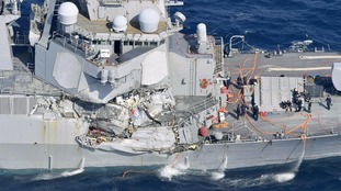 Sailors found dead after US Navy destroyer collides with merchant ship off Japan coast