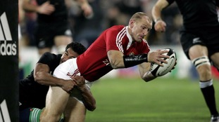 Gareth Thomas in action for the Lions