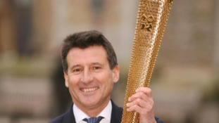 Lord Coe with his Olympic Torch