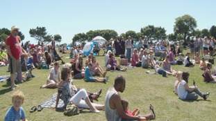 Hundreds enjoyed the sunshine in Southsea