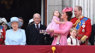 The Queen and her family at the ceremony.