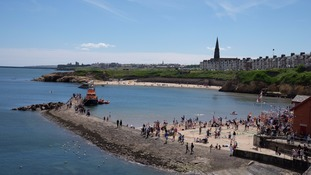 Cullercoats Bay in the summer sunshine (2016)