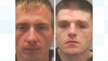 Paul Tullin (left) and Martin Flemming (right) have been jailed after several burglaries across Newcastle and Gateshead
