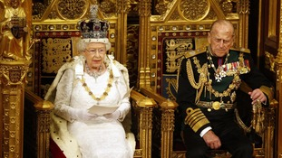 The Queen's Speech is delivered last year.