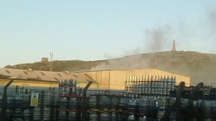 Firefighters tackle blaze at recycling centre