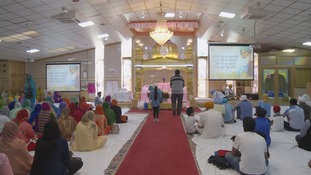 People gathered at the Gurdwara for Sunday prayers