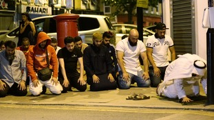 Local people observed prayers close to the scene of the attack.