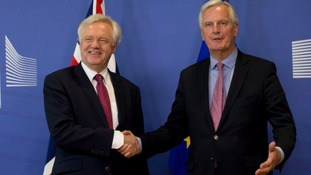Mr Davis with EU Chief Brexit Negotiator Michel Barnier.