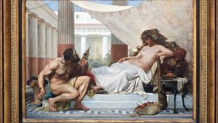 'Hercules aux pied d'Omphale' painting