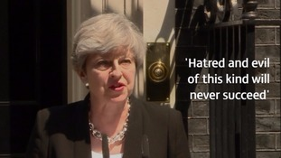 Prime Minister Theresa May condemned the attack as 'sickening' in a statement at Downing Street.