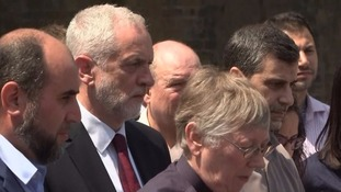 Labour leader Jeremy Corbyn joined faith leaders in observing a minute's silence after the attack in his Islington constituency.