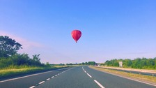 Great weather for a balloon trip. This was just outside York Sunday morning