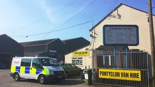 A police van outside Pontyclun Van Hire