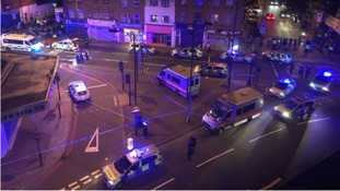 Police descended on Finsbury Park after learning of the 12.20am attack