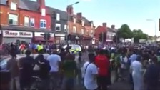 Rival cricket fans clashed in Leicester's Belgrave Road