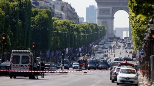 Suspected attacker 'downed' after driving into police car in Paris