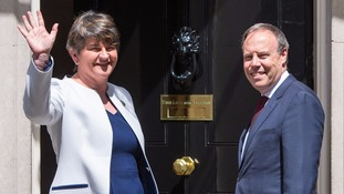 Arlene Foster and DUP deputy leader Nigel Dodds at Number 10 last week.