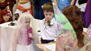 Hundreds of well-wishers attended their fairytale ceremony at the weekend