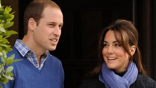 Duke and Duchess of Cambridge leave the King Edward VII hospital in London last week