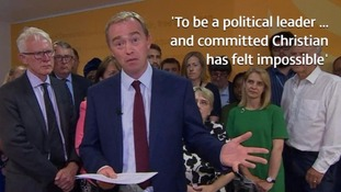 Tim Farron said he faced suspicion for his religious views, particularly on whether he believed gay sex was sinful.