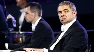 Rowan Atkinson performing during the opening ceremony of the London 2012 Olympic Games