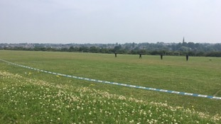 Police search football pitch for clues after man stabbed multiple times