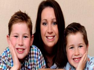 Natalie Trickett and her two children.