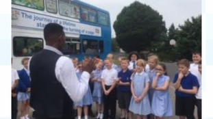 """Des joins primary school pupils in Solihull for the latest in our """"School Stories"""" series"""