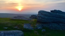 Spectacular solstice sunrise on Dartmoor