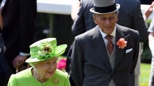 The Queen and Prince Philip at Ascot on Tuesday.