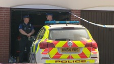 police car and PCSOs