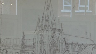 Saranjit's drawing of St Martin's Church