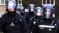 Lothian & Borders Police conducting a raid