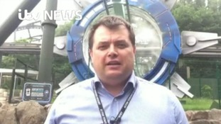 Alton Towers ride stops mid-air