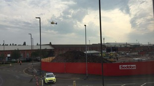 The Air Ambulance took one man to hospital
