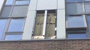 A sample of cladding from the Chalcots Estate in Camden has been sent for testing.