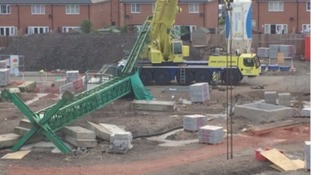 Two men die after crane collapse in Crewe