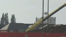 Two dead after crane collapse in Crewe