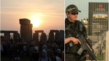 Seven arrested at a 'peaceful' Stonehenge solstice