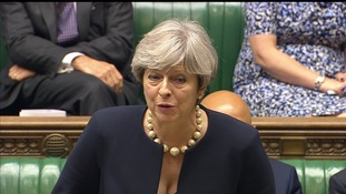 Theresa May addresses the Commons over Grenfell today.