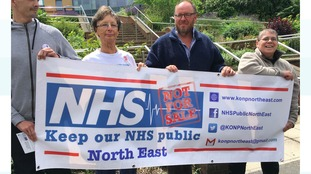 Protest at overnight hospital closures