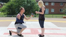 Patient proposes to girlfriend on helipad he was airlifted to