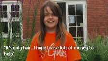 10-year-old prepares to shave head for charity
