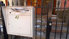 Residents whose mailbox is external are urged to be vigilant.