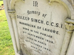 The grave of the Maharajah Duleep Singh