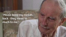 Blind war veteran's tearful appeal: 'Please return my medals'