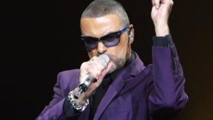 George Michael performing in 2012
