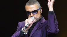 George Michael performing in 2012