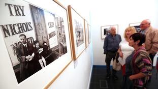 Guests admiring Toby Ray-Jones' work